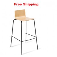 Cruise 4-leg Black Frame Bar Stool