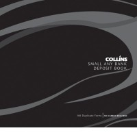 Collins Any Bank Small DL Deposit Book 200 x 210mm 100lf NCR