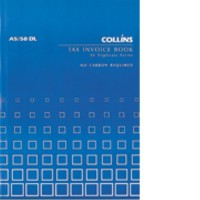 Collins A5/50 DL Tax Invoice Book 50lf NCR