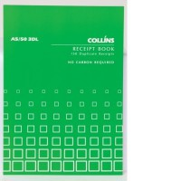 Collins A5/50 3DL Receipt Book (3 to view) 50lf NCR