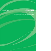 Collins A5/50 4DL Receipt Book (4 to view) 50lf NCR