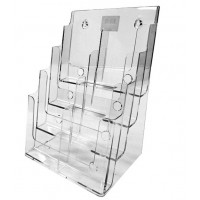 Brochure Holder, 4-Tier, 8 x DLE Pockets