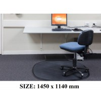 Rubber Chairmat For Carpet and Hardfloor Freight Free
