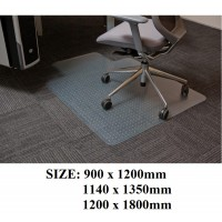 PVC Chairmat for Carpet Flooring Freight Free