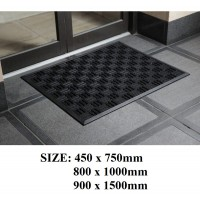Outdoor Entrance Texas mats - Black