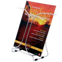 Wire Brochure Holder, A4 Desktop, Chrome finish