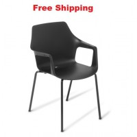 Coco Chair Black Frame with Arms