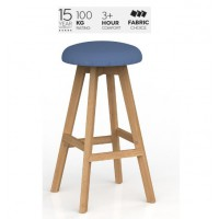 Luna Button Barstool Crown Fabric