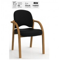 Jazmin Tawa Chair Black PU