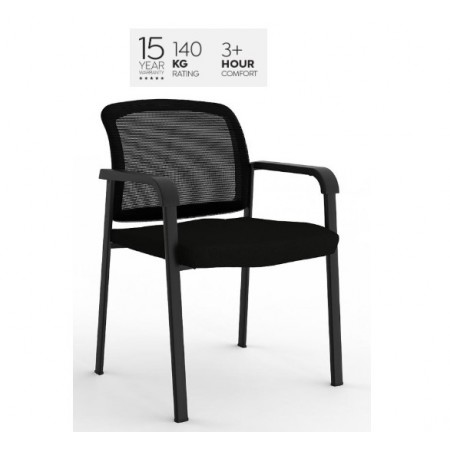 Ozone Mesh Chair Black Fabric