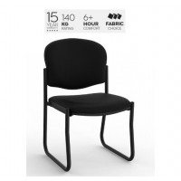 Raz 2 Skid Chair Black PU