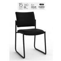 Que Skid Chair Black PU