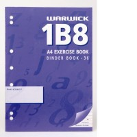 Warwick 1B8-36 Exercise Book Punched 7mm Ruled A4 36lf
