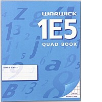 Warwick 1E5 Extra Exercise Book 7mm Quad 255 x 205mm 48lf