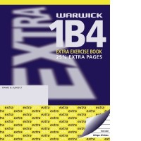 Warwick 1B4 Extra Exercise Book 7mm Ruled 230 x 180mm 40lf