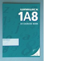 Warwick 1A8 Exercise Book Unruled A4 36lf