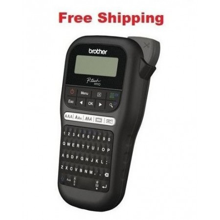 Brother PTH110BK Durable P-Touch Black Label Maker