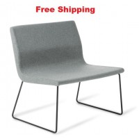 York with Sled Black Base Chair