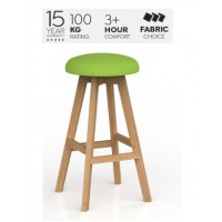 Luna Button Barstool Breathe Fabric