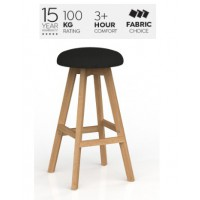 Luna Button Barstool Splice Fabric